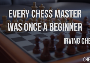 Every chess master was once a beginner