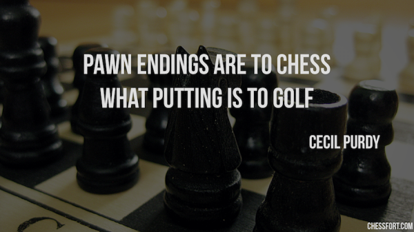 Pawn endings are to chess what putting is to golf