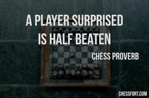 A player surprised is half beaten